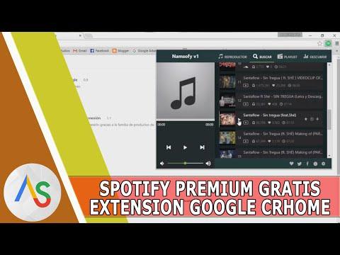 Spotify Premium GRATIS en tu extension de google crhome!!