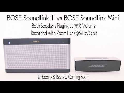 BOSE Soundlink III vs BOSE Soundlink Mini Sound Comparison