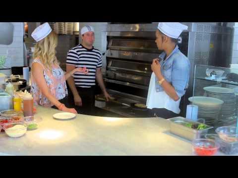 Sasha and Korin @ Pizza Express make Bruschetta