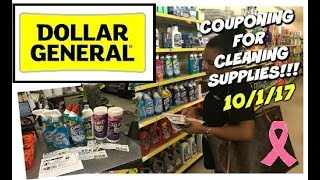 DOLLAR GENERAL 10/1/17 - Couponing For CLEANING PRODUCTS