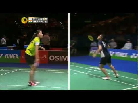 [Highlights] 2013 All England SF WS1 Saina Nehwal vs Intanon Rathanok