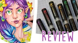 Trying CHAMELEON PENS & Speed Drawing - Marker Review