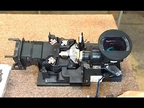 Sony Optical Block Removal and Disassembly for Green Yellow Picture Fog Blob KDS R 50 60 XBR1