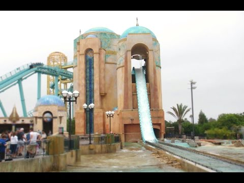 Journey To Atlantis Full Ride Front Seat (HD POV) Seaworld San Diego California