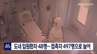 도내 입원환자 48명...접촉자 497명으로 늘어