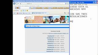 Como descargar videos de Youtube en HD - 3GP - FLV sin programas