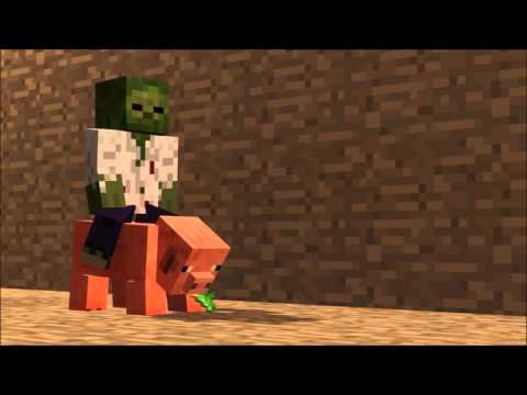 Carrera De Cerdos - Minecraft Animation