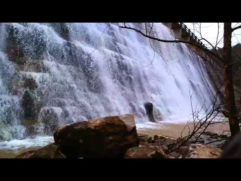 Eureka Springs Travel Tips - Waterfall at Lake Leatherwood Dam, Arkansas