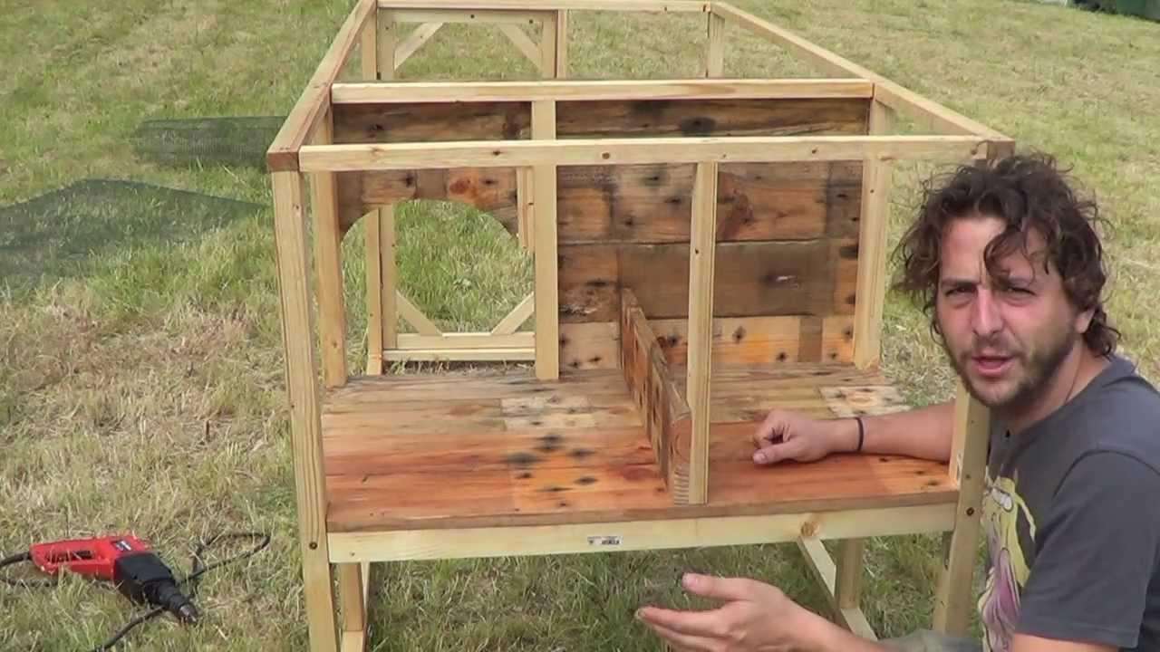 Tomas falsas de como hacer un gallinero la huertina de - Construir con palets ...