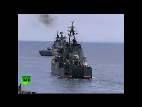Simulacros de la Armada rusa en el mar de Ojotsk