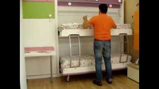 VIDEO EXPLICATIVO| FUNCIONAMIENTO LITERA ABATIBLE HORIZONTAL| MUEBLES MADRID