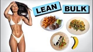 Full day of eating while lean bulking