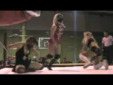 Sexy Lady y Sexy Star vs Ludark Shaitan y Lolita - Deportivo Eduardo Molina 9 junio 2012