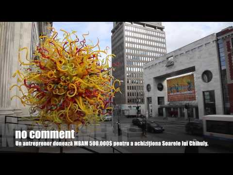 Montreal Museum of Fine Arts receives half a million dollars donation, buys Chihuly's Sun.