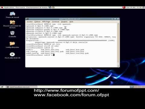 Installation et configuration serveur SSH sous Linux ( Fedora )