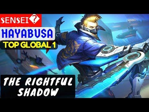 The Rightful Shadow [Hayabusa Top GLobal 1]   sᴇɴsᴇɪ Hayabusa Build Mobile Legends