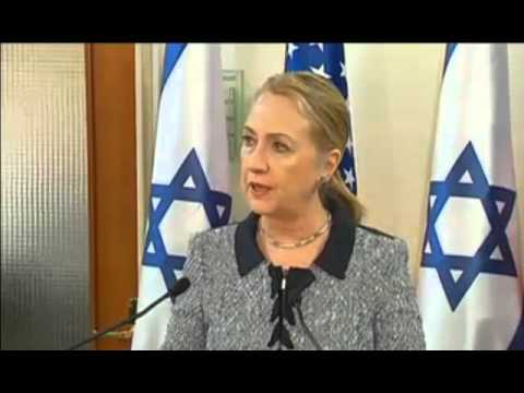 Two Terrorists Hillary Clinton and Benjamin Netanyahu Press Conference on Gaza