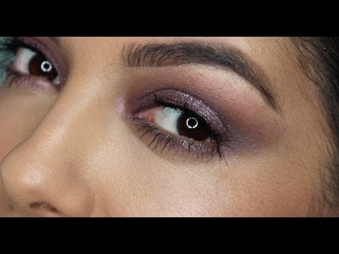 Purple Glitter Glam Makeup Tutorial