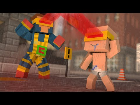 Minecraft - WHO'S YOUR DADDY? - O FILHO BEBADO DO CICLOPE ! ( X-Men Apocalipse )