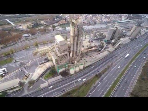 Cementera Lafarge Montcada i Reixac desde el aire