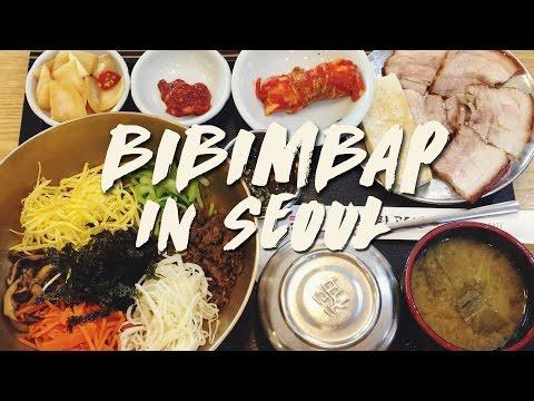 Korean Food: Amazing BIBIMBAP in Seoul | & Daily Life 한식: 비빔밥 & 일상