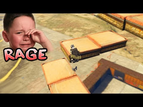 GTA 5 Online Parkour - LITTLE KID STARTS CRYING!!?