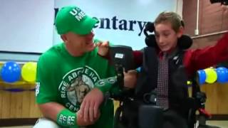 John Cena Surprises 9 Year Old with Brand New Wheelchair