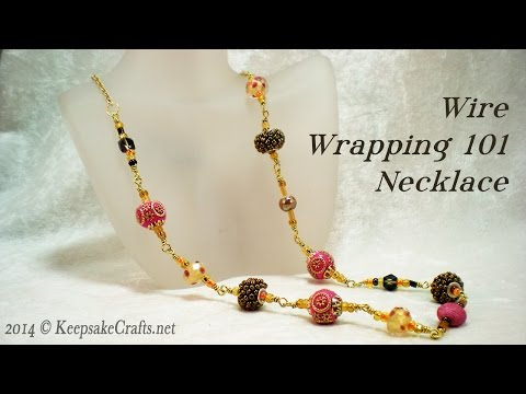 Wire Wrapping 101 - Bead Necklace Video Tutorial
