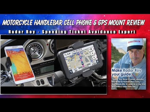 Motorcycle Cell Phone & GPS Handlebar Mount Review