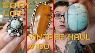 Diggin' with Dirty Girl S10E9 Vintage Haul #180 Big Ebay Jewelry Lot - Did I Do Good?