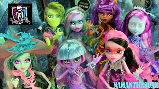 MONSTER HIGH HAUNTED DOLLS COLLECTION REVIEW!!! :D