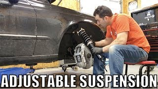 I'm Turning My Turbo Diesel Mercedes Into A Handling Machine! Fully Adjustable Coilover Suspension!