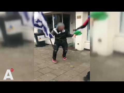 Arrestatie belager joods restaurant Amsterdam van dichtbij gefilmd: VVD stelt vragen