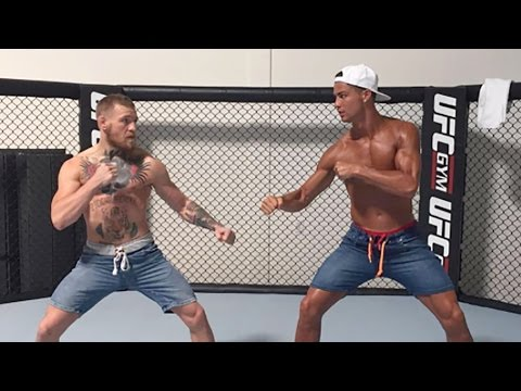 Cristiano Ronaldo Gets Into The Octagon With Conor McGregor