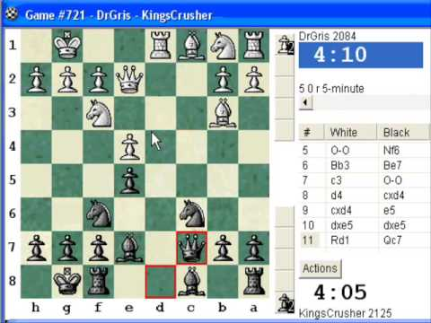 Chess World.net: Blitz #150 vs. DeGris (2084) - Sicilian Defense: Delayed Alapin (B50)