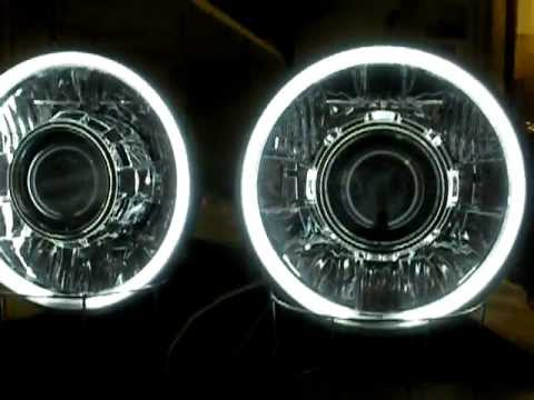 "Bi Xenon Headlights >> 7"" (universal) #7 55 Watt HID/Bi-Xenon Projector Headlights by Sick HIDs - YouTube"