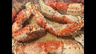 Mouthwatering Alaskan King Crab Legs in Garlic Butter