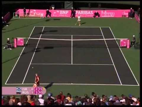 Anna Chakvetadze versus rude crowd ! Fed cup