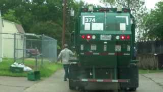 City Of Mesquite Recycling: International New Way Mamba Sideloader part 1
