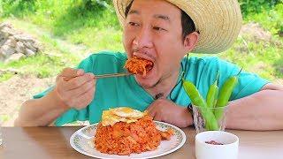 김치제육볶음밥 먹방~ spicy kimchi fried rice Mukbang eating show