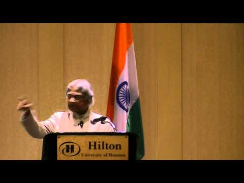 Dr.a.p.j Abdul Kalam Speech At University Of Houston - Giso video
