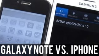 Samsung Galaxy Note vs. iPhone 4 - Speed Test