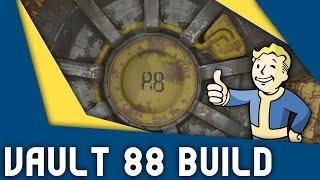 Fallout 4 Let's Build | Vault 88 | Part 2 - Cafeteria & Overseer's Quarters