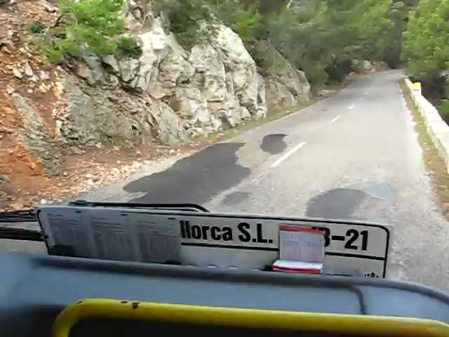 Public bus travelling from Formentor to Puerto Pollensa.