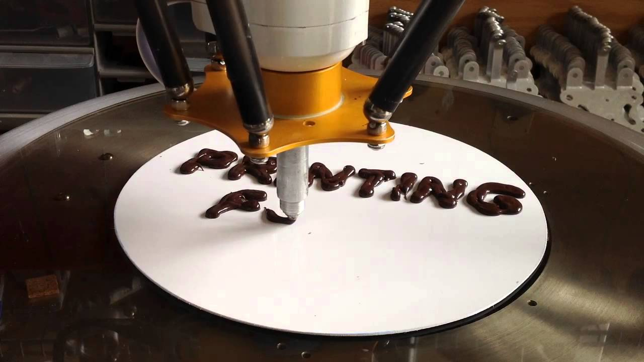 Printer For Cake Images : 3D-Printing Chocolate Cake icing with a peristaltic pump ...