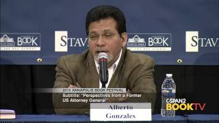 Alberto Gonzales, 2015 Annapolis Book Festival - Panel on Immigration Reform