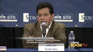 Alberto Gonzales, 2015 Annapolis Book Festival - Panel on Immigration Reform