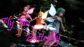 MMD Fly Fly Butterfly By Miku, Luka & Rin Fairy