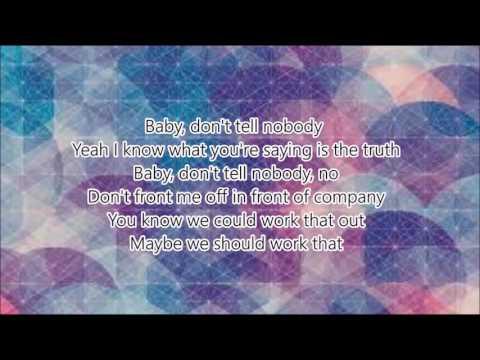 Tink ftJeremih  Dont tell nobody lyrics on screen