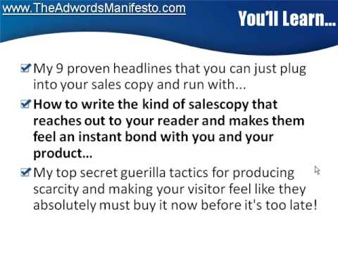 http://www.TheAdwordsManifesto.com  - Video 5 - Pay Per Click Secrets